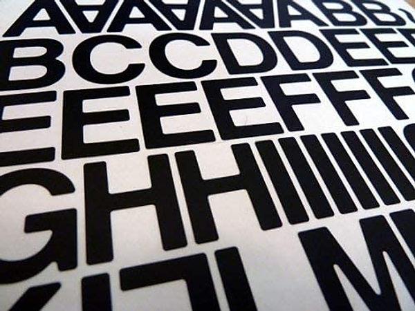 pre cut lettering