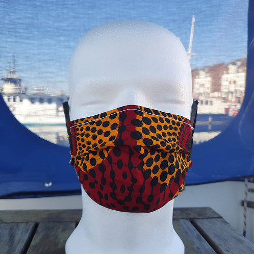 Face covering - Orange/Blood