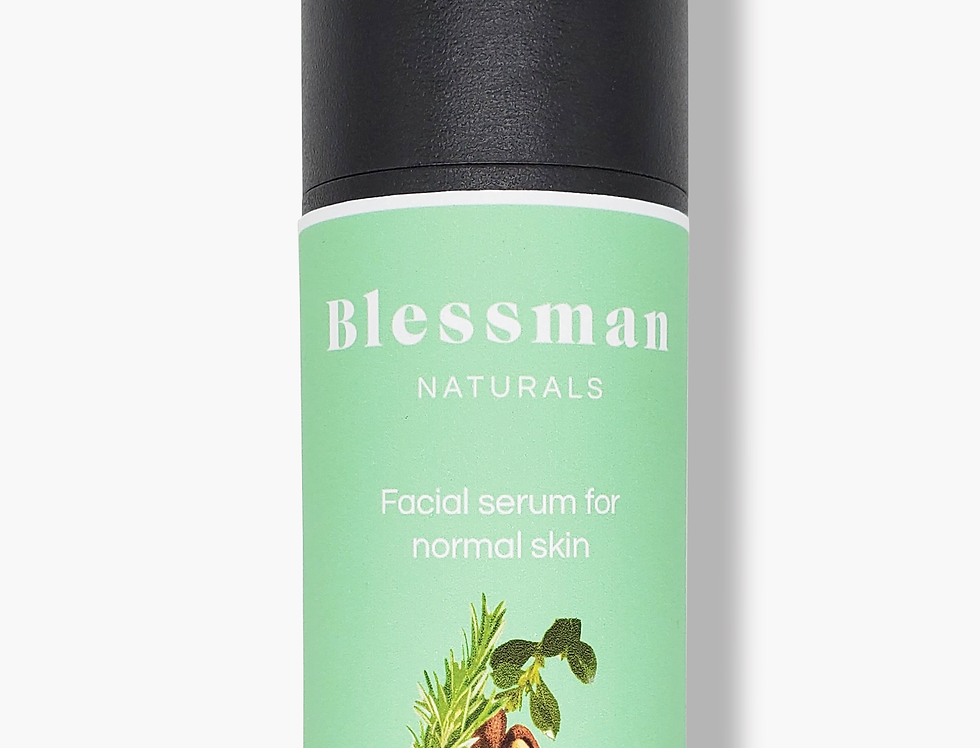 Natural facial serum for normal skin