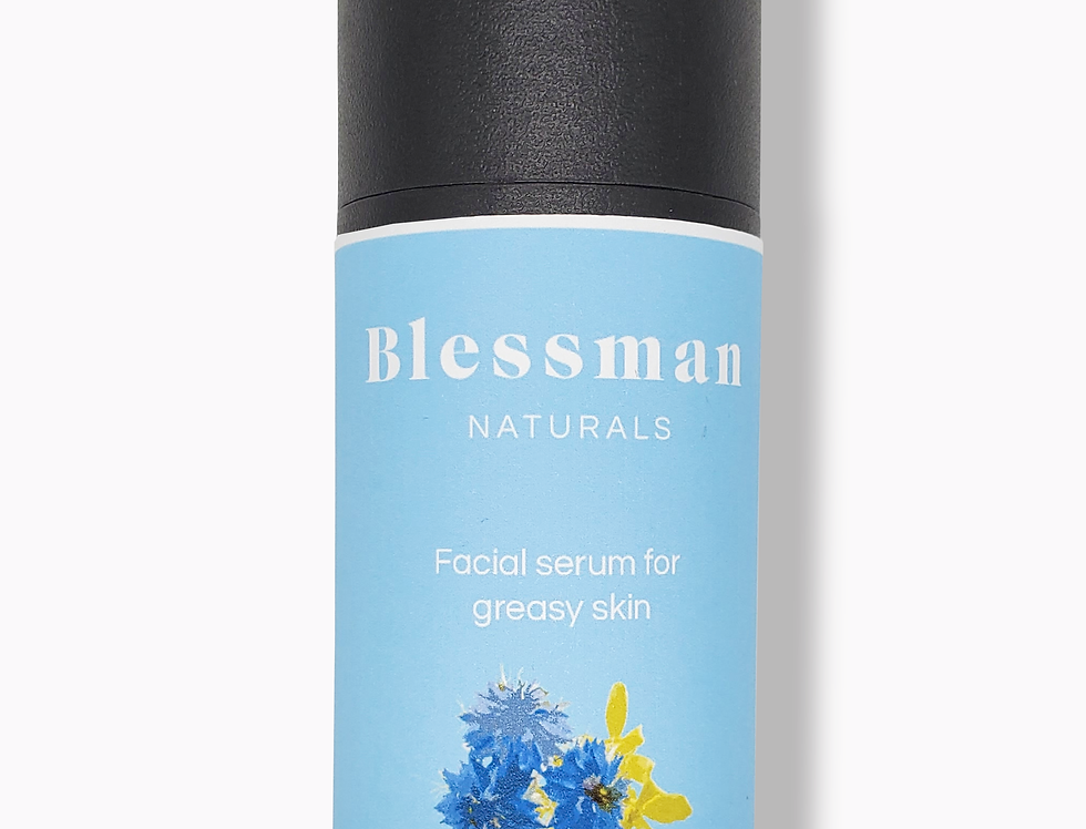 Natural facial serum for greasy skin