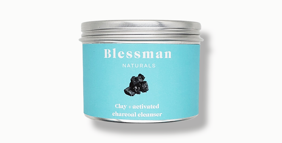 Bentonite clay & activated charcoal skin cleanser | Face mask