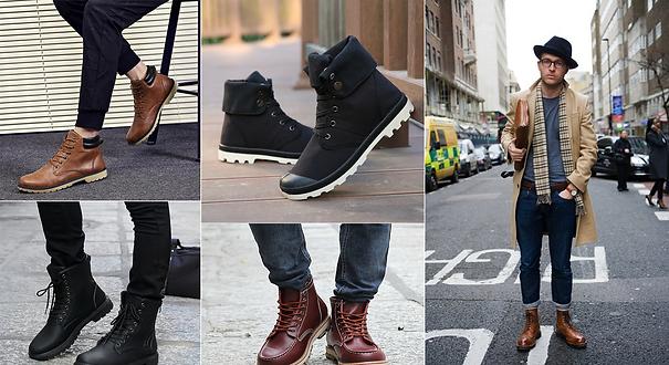 Autumn boots for men