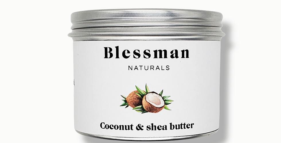 Extra virgin coconut oil & shea butter   Skin moisturiser   Blessman naturals