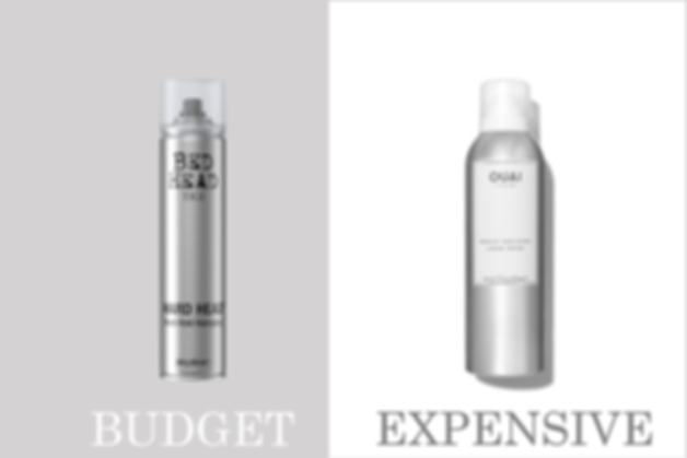budget vs expensive hairspray