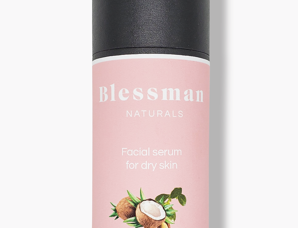 Natural facial serum for dry skin