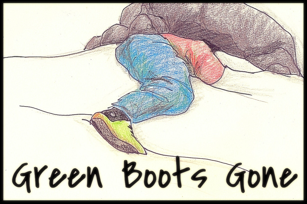 MT Everest Green Boots Gone