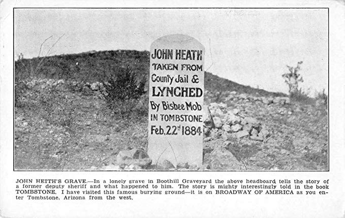 John Heath Tombstone Cemetery