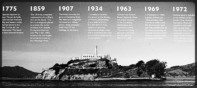 Alcatraz Timeline
