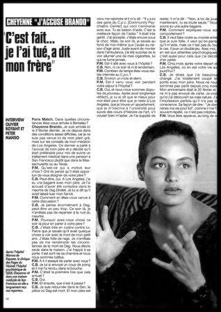 Cheyenne Brando Paris Match Interview 1993