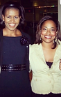 Michelle Obama and Erica L. Reynolds