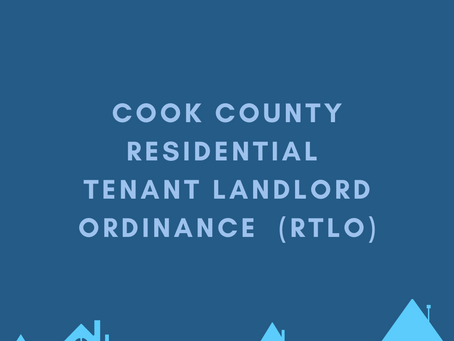Cook County Residential Tenant Landlord Ordinance Summary Approved