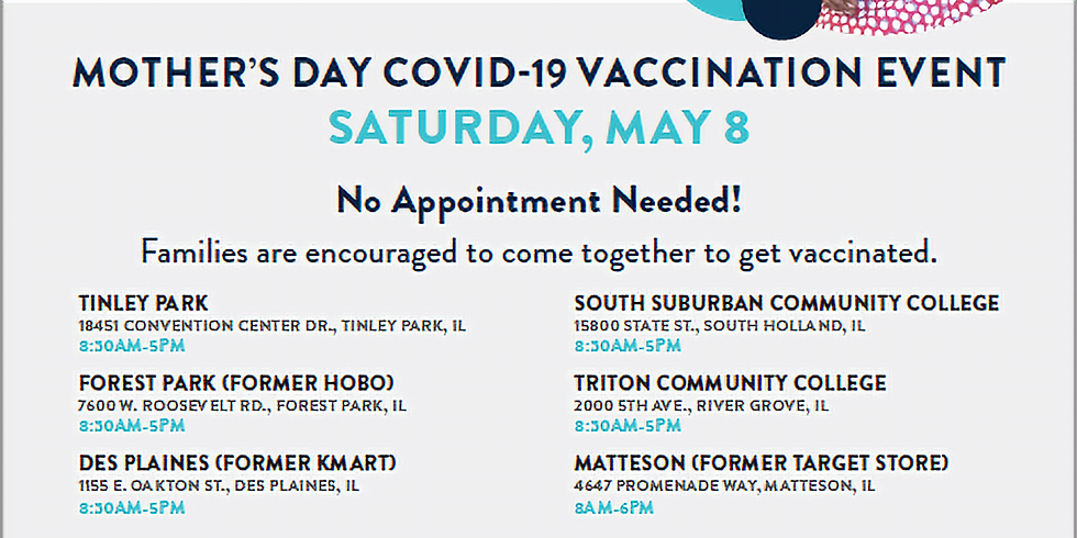 Mother's Day COVID-19 Vaccination Event - Forest Park
