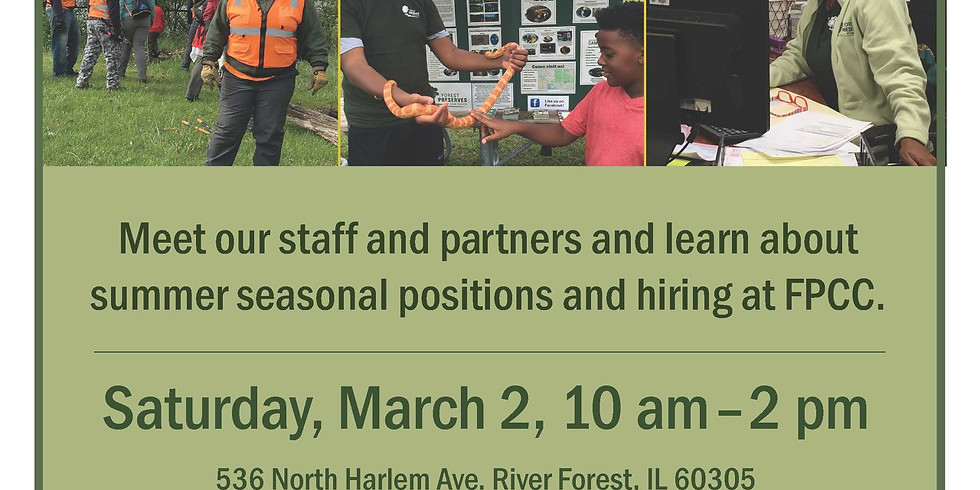 Forest Preserves of Cook County Career Fair