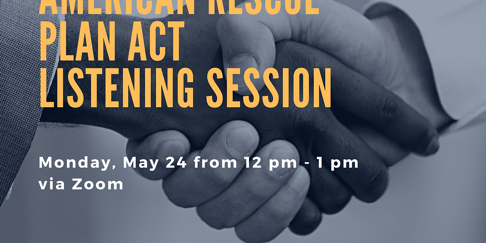 Non-Profit American Rescue Plan Act Listening Session