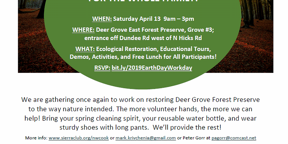 Earth Day 2019 Workday & Celebration