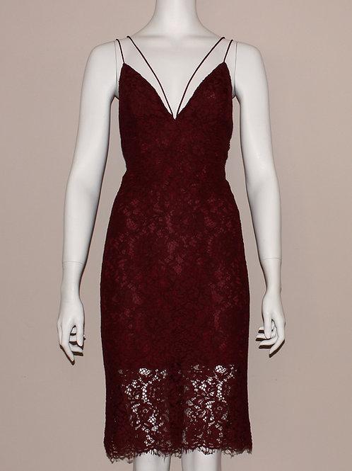 Wine Lace Dress