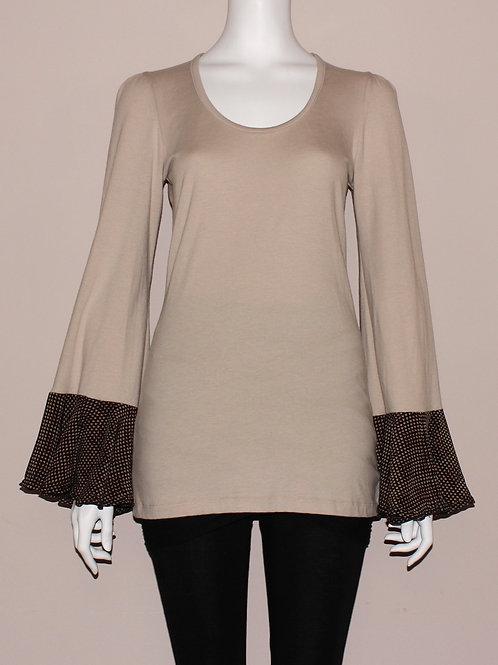 Silk Flutter Sleeve Top