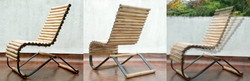Swinging bamboo chair