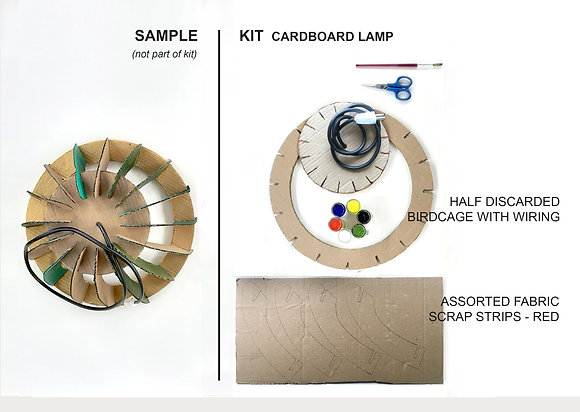 Cardboard lamp kit