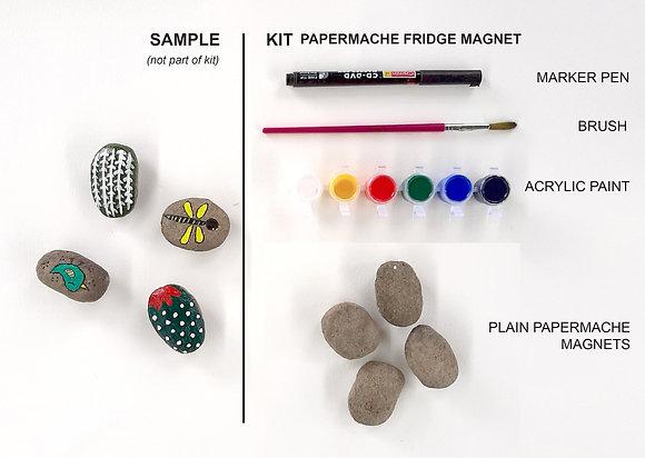 Papermâché fridge magnet kit