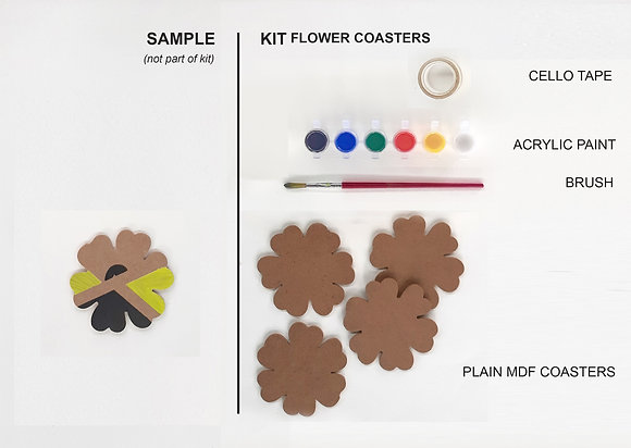 Flower coaster kit