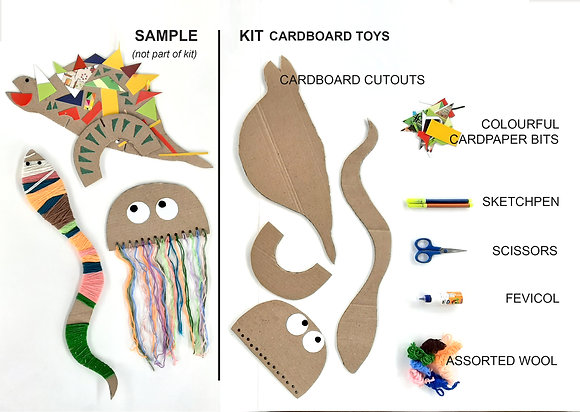 Cardboard craft kit - Assorted animals