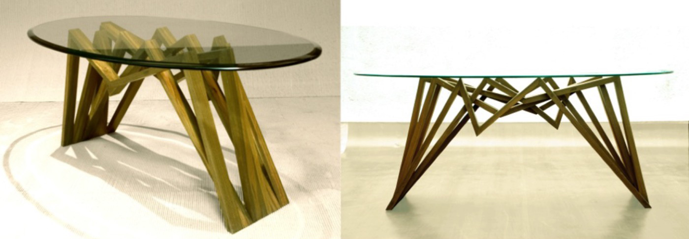 Center table in teak wood