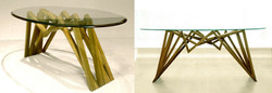 Center table in teak wood
