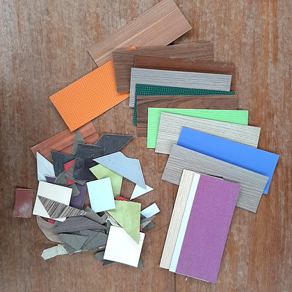 Laminate Pieces- Assorted shapes, sizes and colours