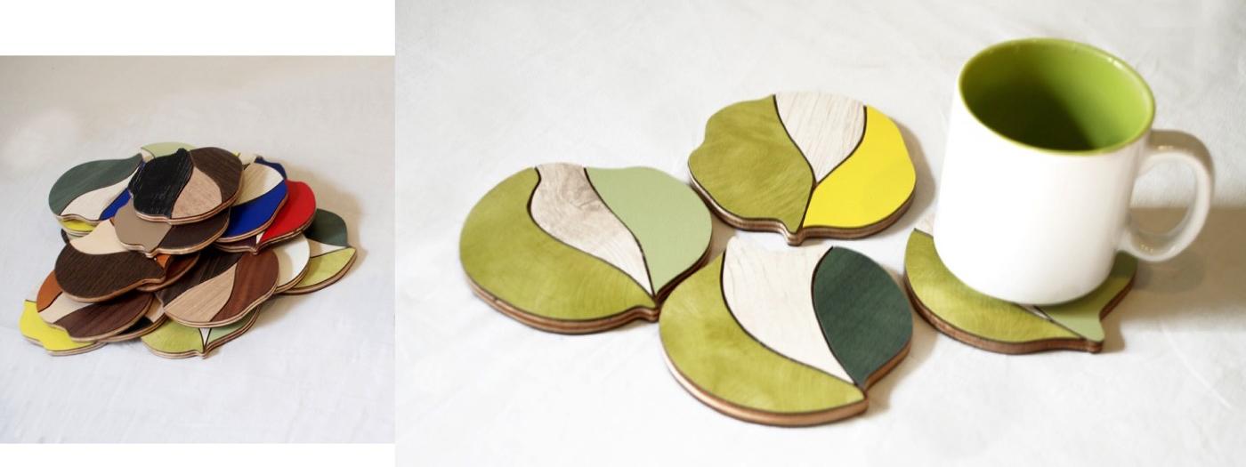 Mosaic Leaf Coasters