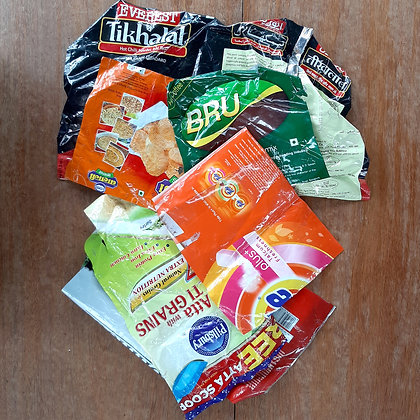Plastic assorted wrappers and packets