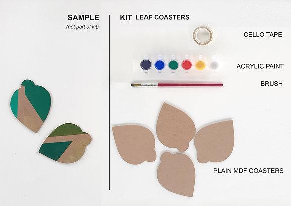 Leaf coasters kit