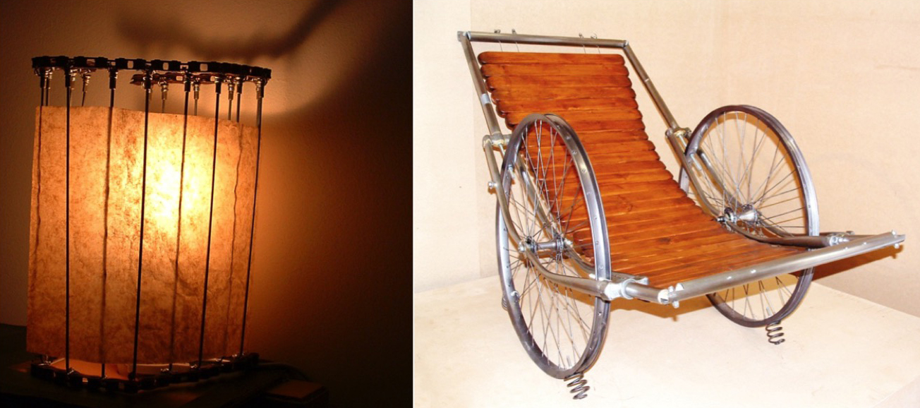 Lamp and Rocking Chair
