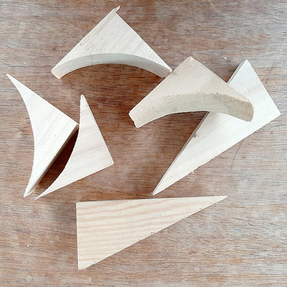 Wooden triangles