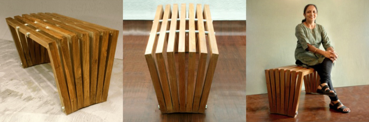 Open Bench in teak wood