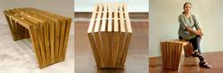 Open Bench in teak wood