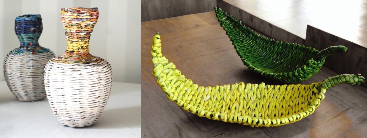 PaperSccape Leaf Bowls & Vases
