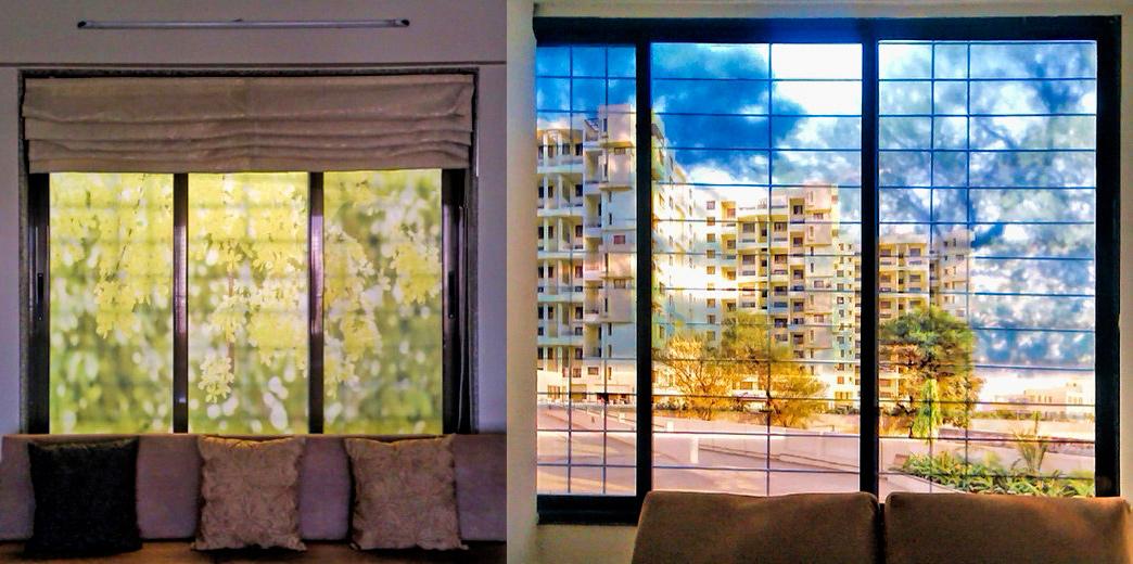 Window glass clear flims