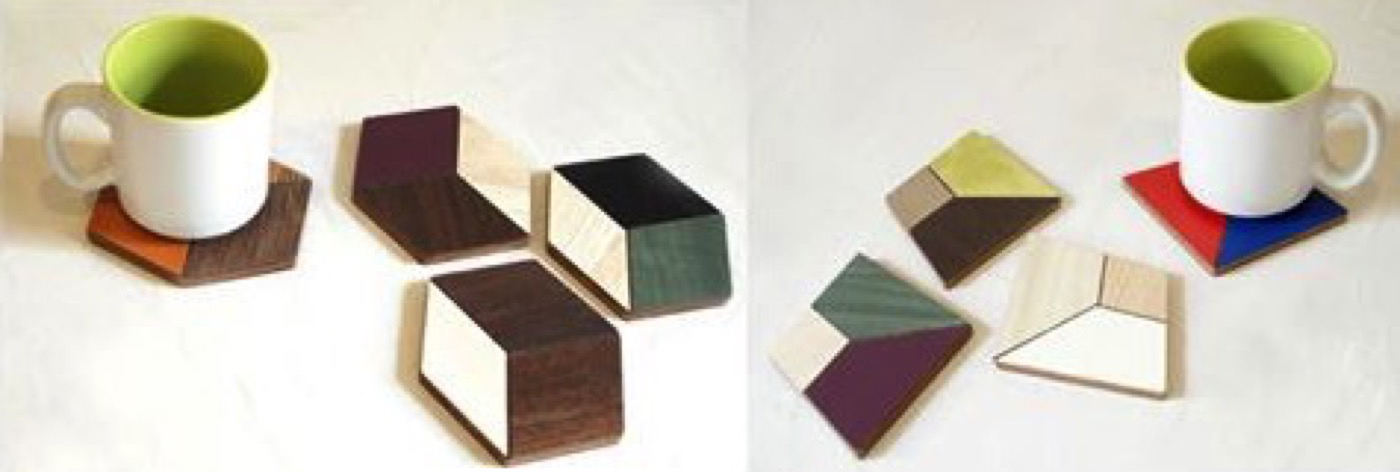 Mosaic Geometrical Coasters