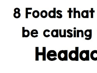 8 foods that may be causing your headaches