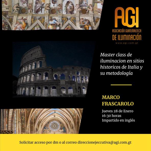 Master Class: Iluminación en sitios históricos de italia y su metodología