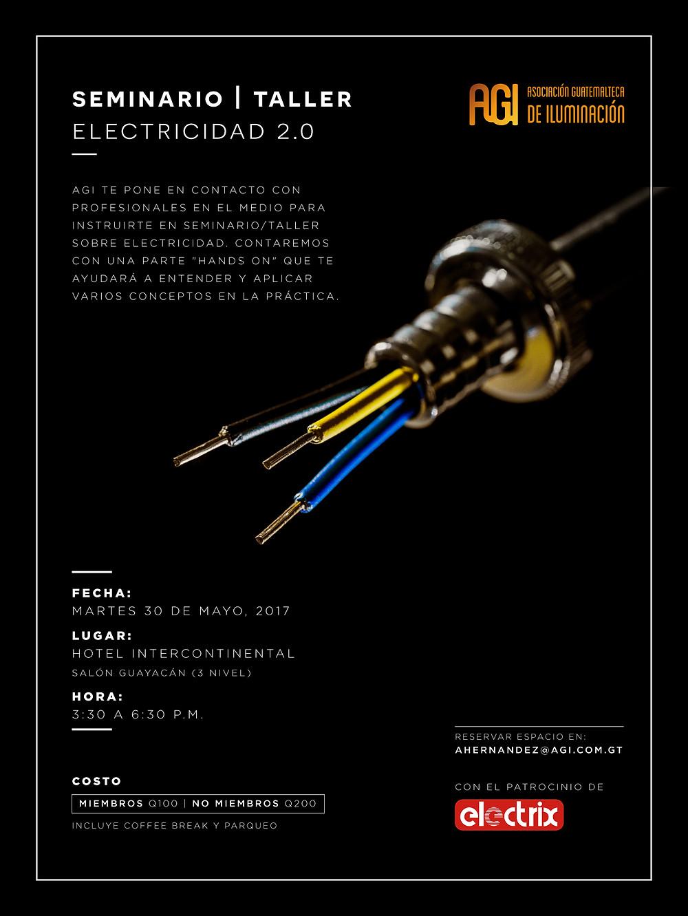 Invitación al Seminario/Taller Electricidad 2.0