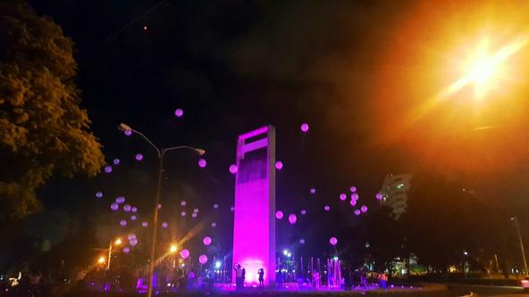 Intervención Lumínica | Plaza Argentina