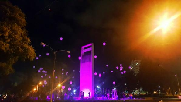 Intervención Lumínica   Plaza Argentina