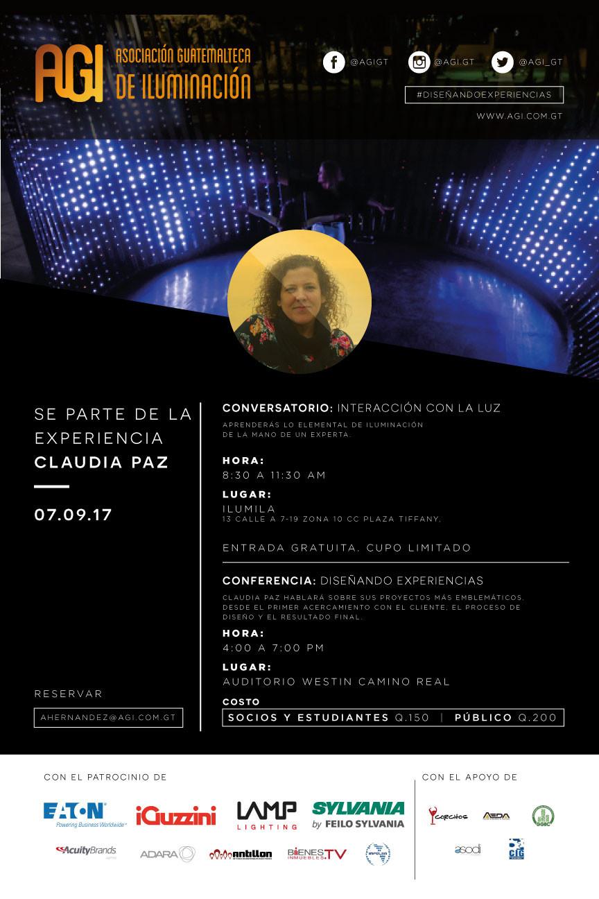 Agenda de la Visita de Claudia Paz