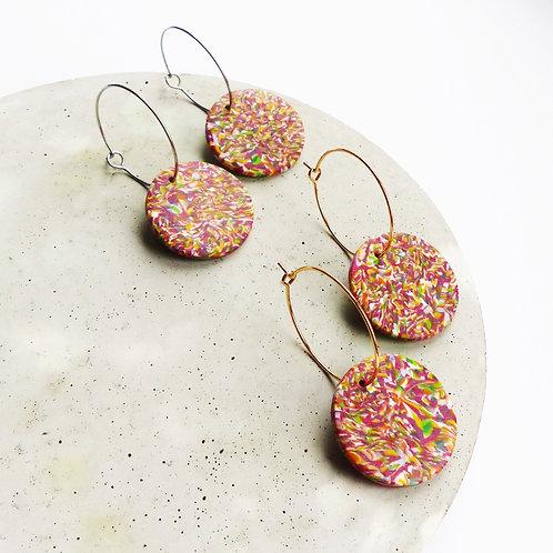 Multicoloured Hoop Earrings in Gold/Silver, by The Lobe Wardrobe