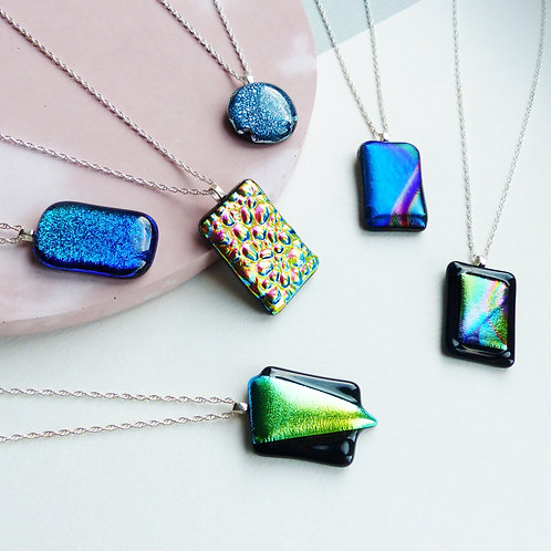 Glass Pendant Necklaces by Twisted Little Flowers