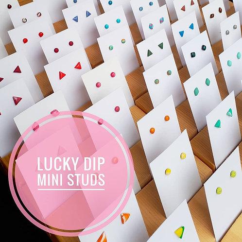 LUCKY DIP! - 5 Pairs, Mini Stud Earrings, 4-8mm Diameter