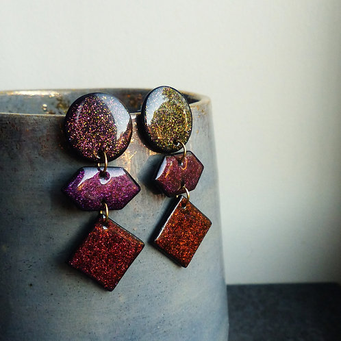 Colour-Shifting, Autumn Colours, Dangle Earrings