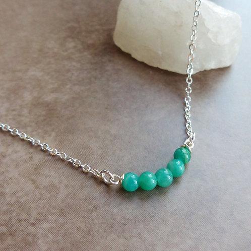 Dainty Amazonite Necklace by Saskia Wrycroft